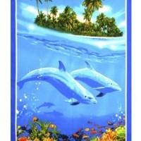 """Банное вафельное полотенце """"Дельфины"""""""
