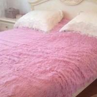 Покрывало Розовый №6, длинный ворс