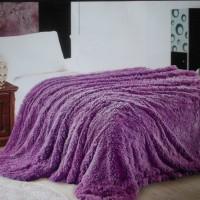Покрывало Фиолетовый №12, длинный ворс