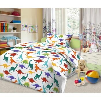 Комплект постельного белья диз. Динозаврики, 100% хлопок