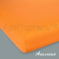 Трикотажная простыня на резинке Апельсин