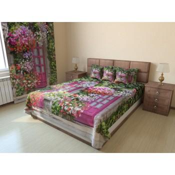 Фотопокрывало Дом в цветах