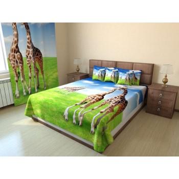 Фотопокрывало Жирафы на лугу