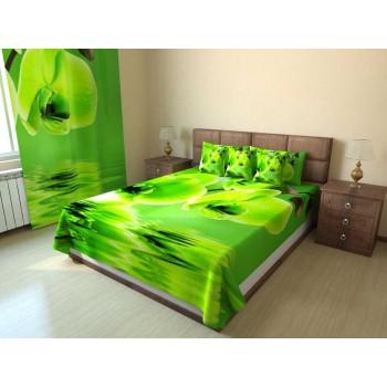 Фотопокрывало Зеленые орхидеи