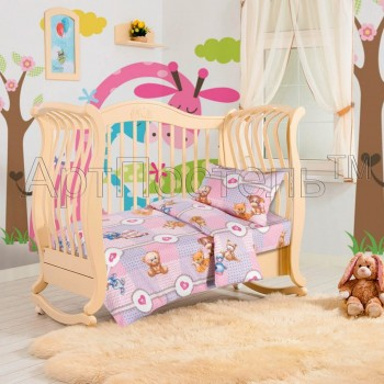 КПБ в детскую кроватку Пуговки