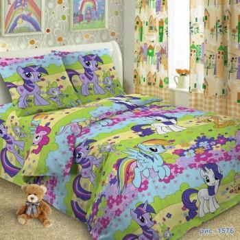 КПБ в детскую кроватку 1576 Чудо-пони