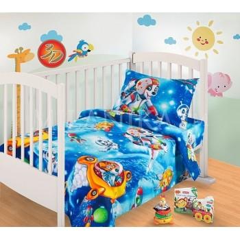 КПБ в детскую кроватку Космики