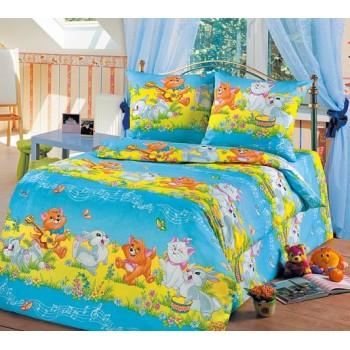 КПБ в детскую кроватку Веселые друзья