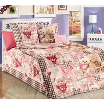 КПБ в детскую кроватку Мишки (беж)