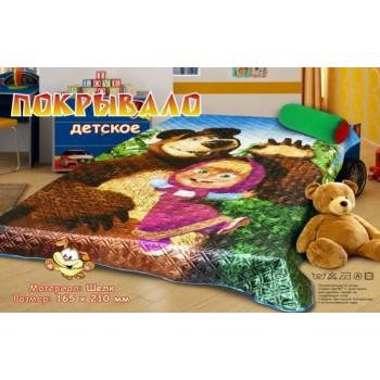 Покрывало шелк Маша и медведь
